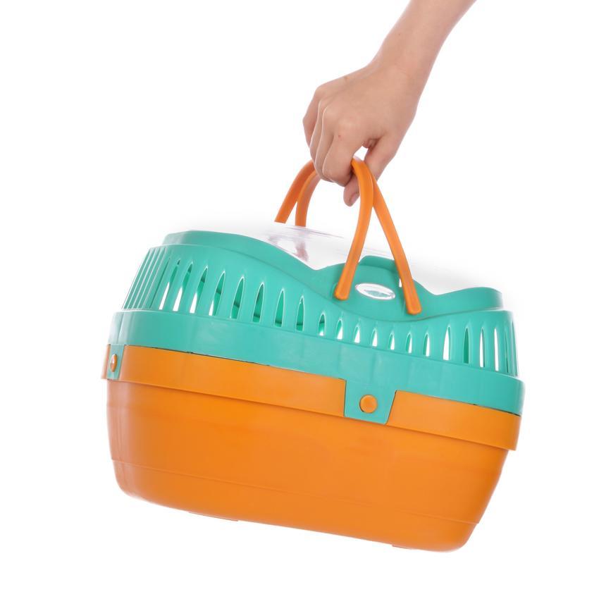 Transporter dla królika w kolorze miętowo-pomarańczowym i inne ciekawe transportery dla królików